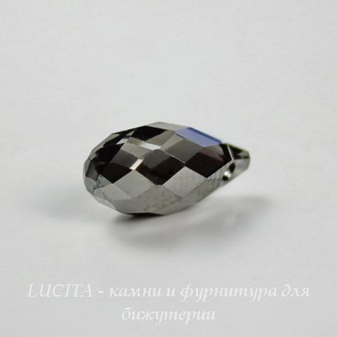 6010 Подвеска Сваровски Drop Crystal Silver Night (13х6,5 мм)