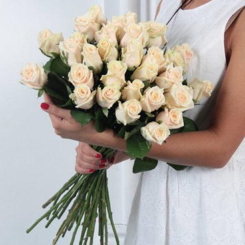 Букет 25 кремовых роз Talea