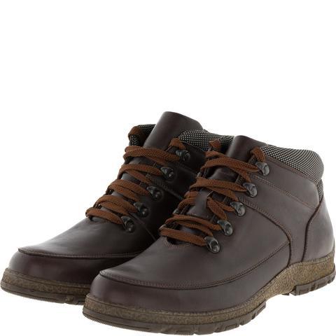 636316 Ботинки мужские коричневые кожа. КупиРазмер — обувь больших размеров марки Делфино