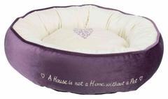 Trixie Лежак Pet's Home, ф 50 см, фиолетовый / кремовый