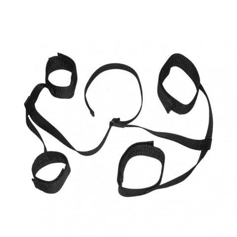 Черный фиксатор для запястий и лодыжек на липучках