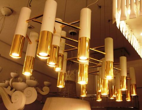 replica ike by delightfull ( white + gold ) 24 lamps ( replica )