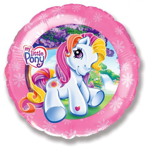 Шар Круг Моя маленькая пони. Розовый.