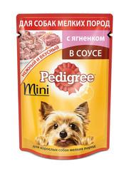 Pedigree для взрослых собак мини пород с ягненком в соусе 85 гр