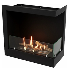 Угловой биокамин Lux Fire 490 S (правый угол)