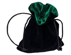 Мешочек Blackfire Velvet Dice Bag 10x12cm with Satin Lining (зелёная подкладка)