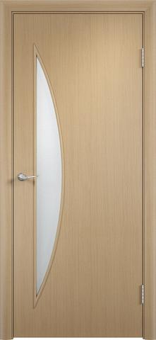 Дверь Сибирь Профиль Луна (С-6), цвет беленый дуб, остекленная