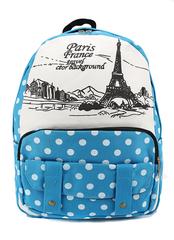 Молодежный рюкзак Париж Голубой