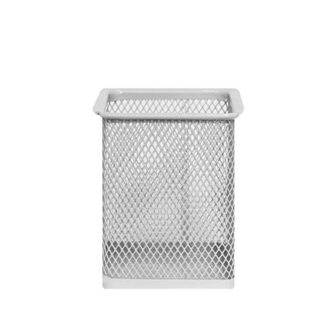 Подставка для канцелярии Metallic Square Grey
