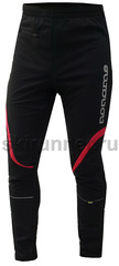 Лыжные брюки самосбросы Noname Softshell Pant black-red унисекс