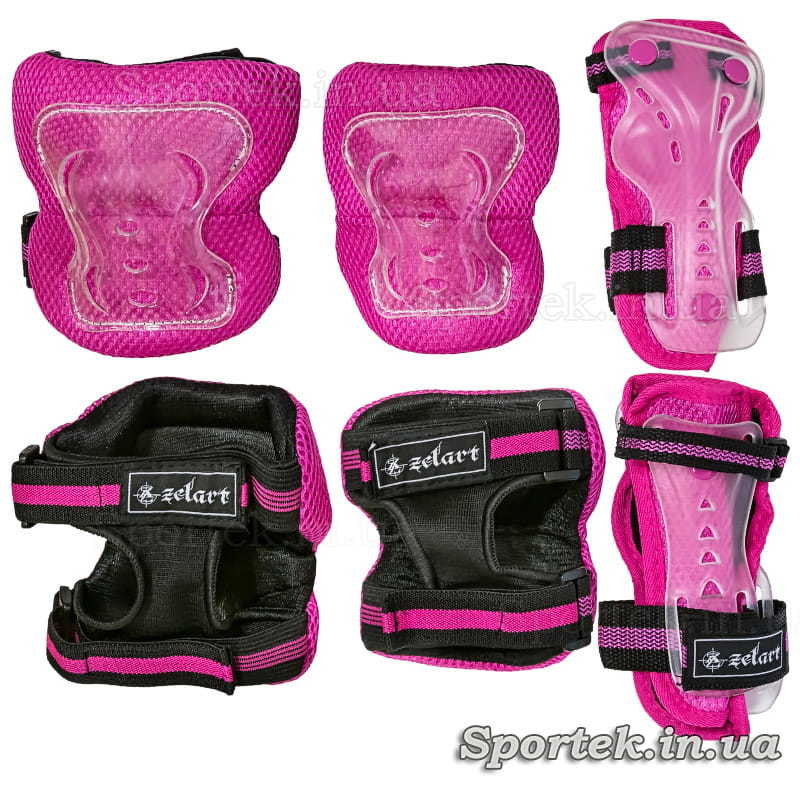 Женская ярко-розовая защита для катания на велосипедах, роликах, скейтбордах