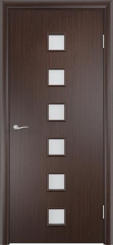 Дверь Сибирь Профиль Квадрат (С-9), цвет венге 3D, остекленная