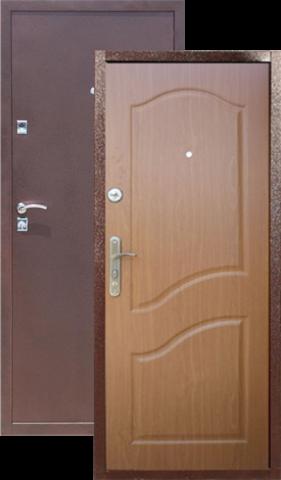 Дверь входная СтройГост Стройгост 5, 2 замка, 1 мм  металл, (медь антик+миланский орех)