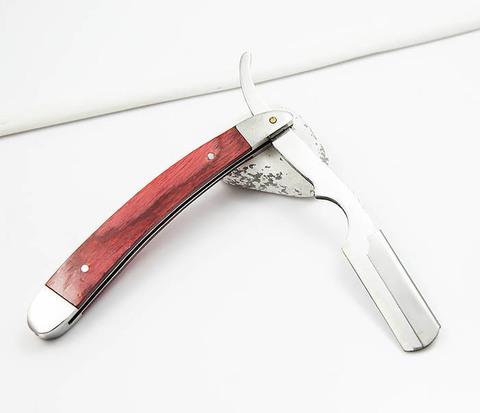 Бритва шаветка для сменных лезвий с деревянной ручкой