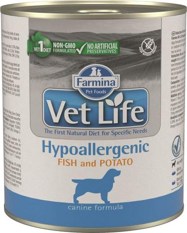 Беззерновые консервы Farmina Vet Life Natural Diet Dog Hypoallergenic Fish & Potato