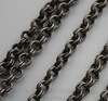 Винтажная цепь двойная (звено 4х0,7 мм) (оксид серебра), 10 cм
