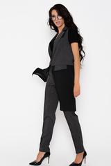 """Ультра модный удлиненный жилет с клапанами. Низ жилета выполнен из креп - шифона. По бокам разрезы.  Отлично смотрится в комплекте с брюками """"Монако"""". (Длина: 93 см во всех размерах)"""