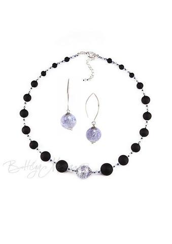 Комплект Monte Amiata Sapfir (ожерелье и серьги)