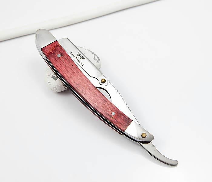 RAZ336-2 Бритва шаветка для сменных лезвий с деревянной ручкой фото 02