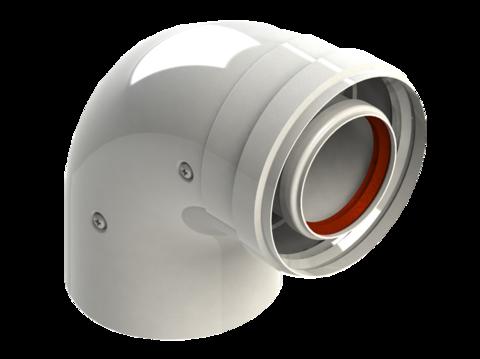 Колено диам. 60/100L MF 90 RTF17.001