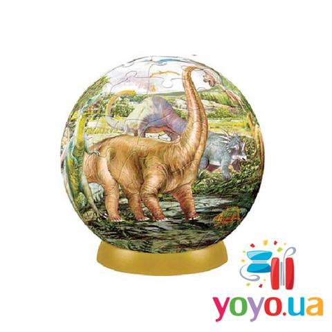 Шаровый 3D пазл Pintoo - Динозавры 60 деталей