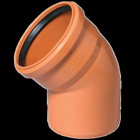 Угол канализационный Ø160х45° Millenium рыжий