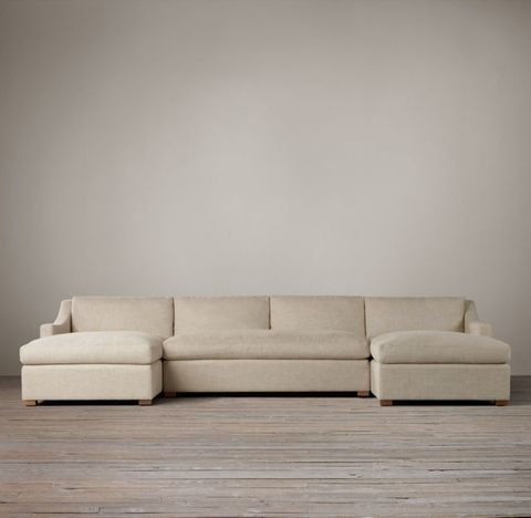 Belgian Classic Slope Arm U-Chaise Sectional