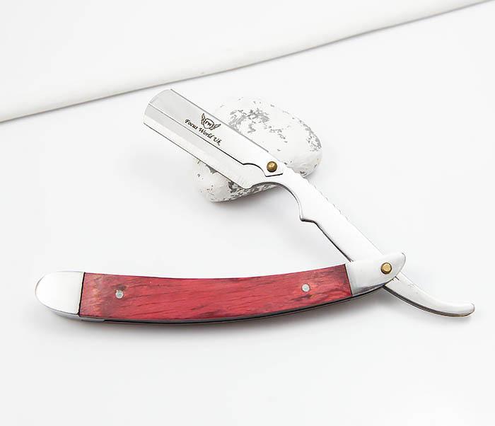 RAZ336-2 Бритва шаветка для сменных лезвий с деревянной ручкой фото 03