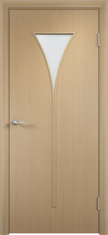 Дверь Сибирь Профиль Рюмка (С-4), цвет беленый дуб, остекленная