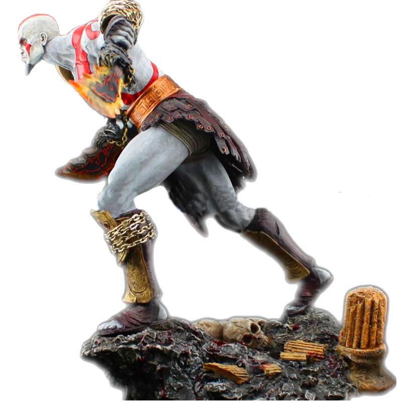 Бог Войны 3 статуэтка Кратос с огненными мечами Афины
