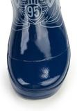 Резиновые сапоги Тачки (Cars) на шнурках для мальчиков, цвет синий. Изображение 5 из 7.
