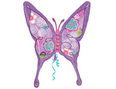 шар бабочка лиловая www.shop-shariki.ru