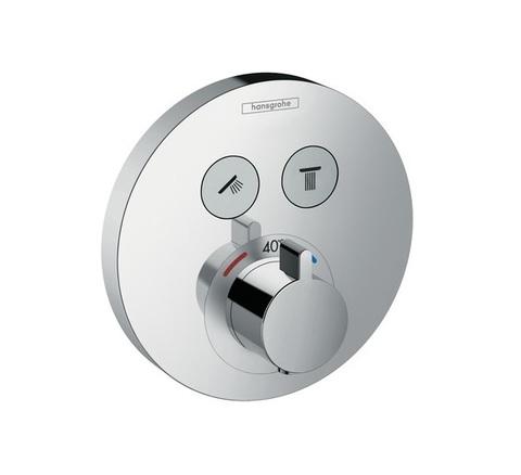 Термостат Hansgrohe 15743000 ShowerSelect S, для 2 потребителей