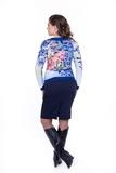 Блузка 01840 синий
