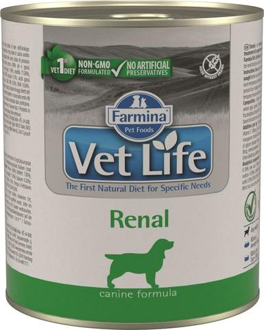 Беззерновые консервы Farmina Vet Life Natural Diet Dog Renal