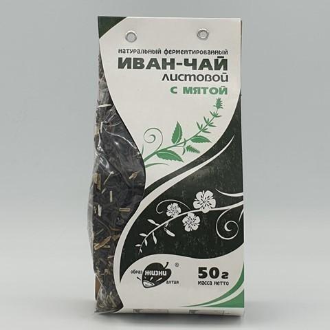 Иван-чай листовой с мятой ОБРАЗ ЖИЗНИ, 50 гр