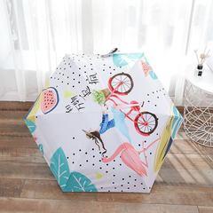 Зонт миниатюрный, ультратонкий с защитой от УФ, 6 спиц, фото принт 02