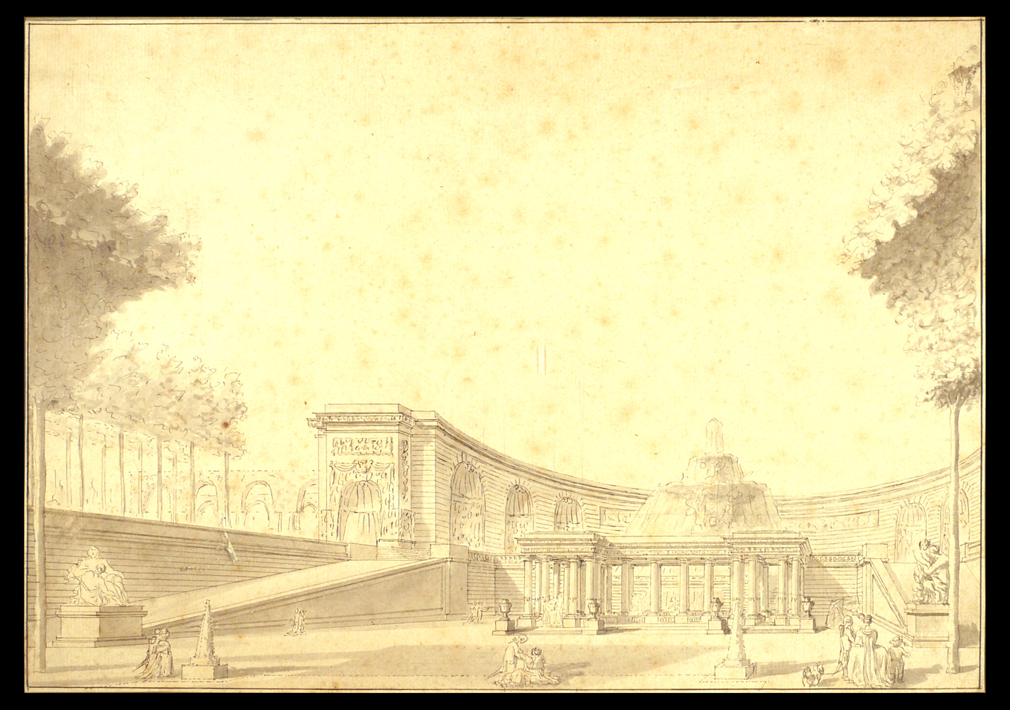 French (Italian?) School Capriccio with terrace, 1770-1790