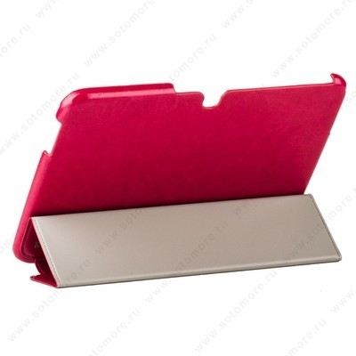 Чехол HOCO для Samsung Galaxy Tab 3 10.1 P5200/ P5210 - HOCO Crystal series Leather Case Rose red