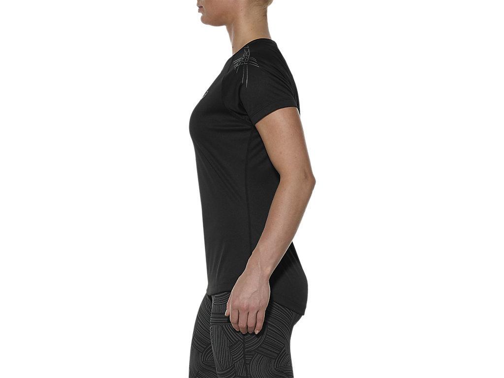 Женская спортивная беговая футболка Asics Stripe SS Top (126232 0905) черная