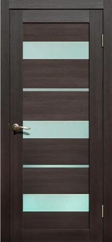 Дверь Fly Doors L-20, стекло матовое, цвет венге 3D, остекленная