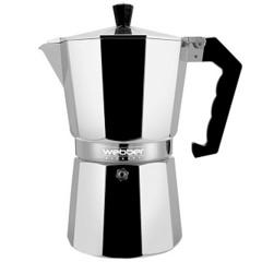 Гейзерная кофеварка 100 мл на 2 чашки алюминиевая WEBBER BE-0120