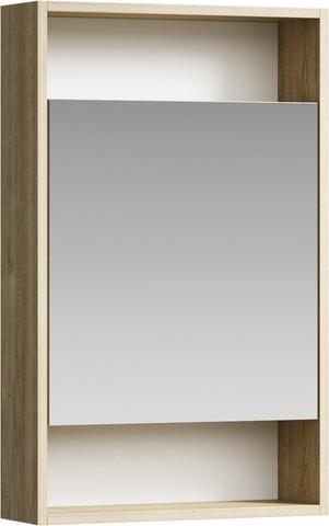Сити Шкаф-зеркало 50 см, цвет дуб балтийский, SIT0405DB