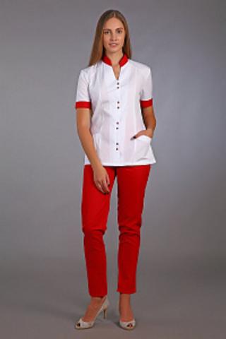 Медицинский костюм 126 красный