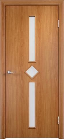 Дверь Сибирь Профиль Диадема, стекло хрусталик, цвет миланский орех, остекленная