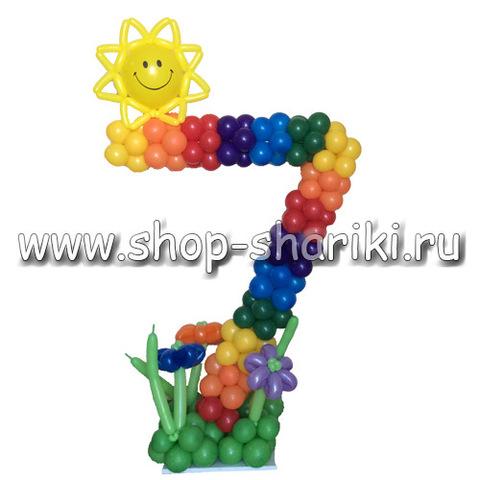 shop-shariki.ru цифра 7 из воздушных шаров