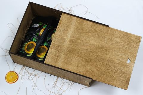Большой чайный набор №1 в деревянном коробе