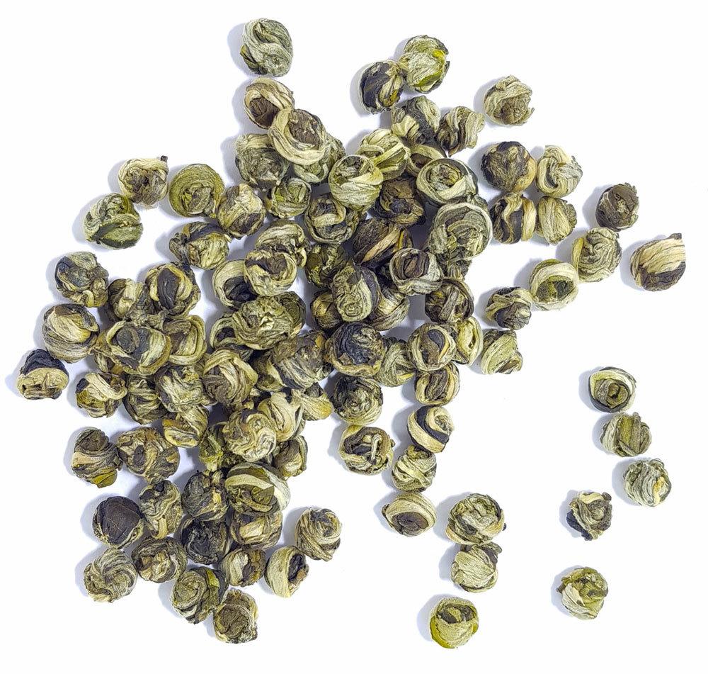 Зеленый чай Жасминовые жемчужины дракона с типсами, Моли Хуа Лун Чжу, 50 гр. MoliLunZhu1.jpg