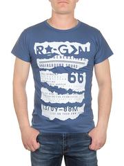 0719-4 футболка мужская, синяя
