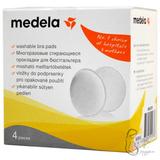 Medela. Прокладки для груди многоразовые, 1уп/4 шт.